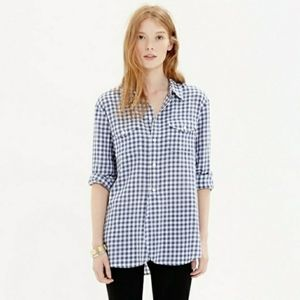 Madewell Button Down Shirt Gingham Blue Small